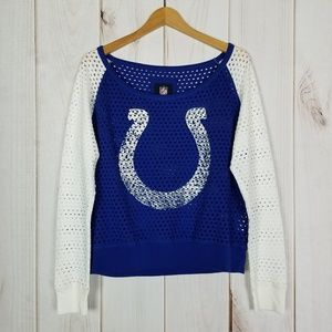 NFL Tops - NFL The Colts Blue White Jersey  - Size XL